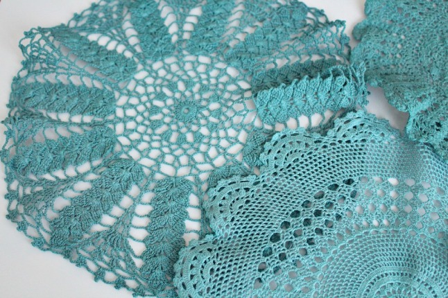 Can you dye a vintage doily in the machine? Yes!