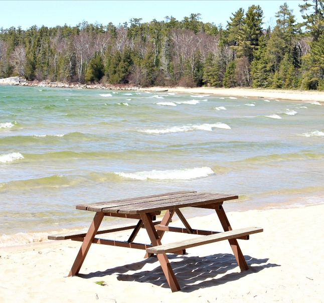 Picnic Table Lake Superior Beach